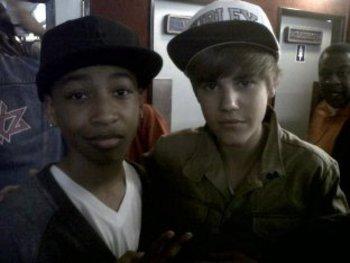 Jacob hanging with Justin Bieber