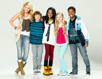 China with the cast of Disney's new comedy series ANT Farm!