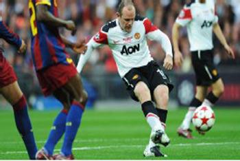 Rooney Rockin it for Man U