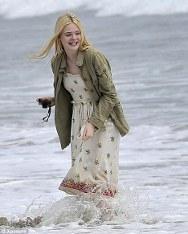 Elle Fanning gets her feet wet in LA waters