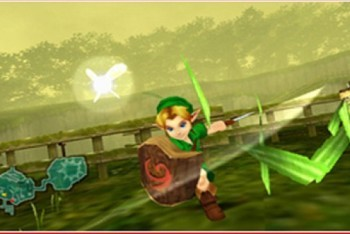 Child Link practicing with his sword