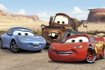 Sally, Mater, Lightning McQueen