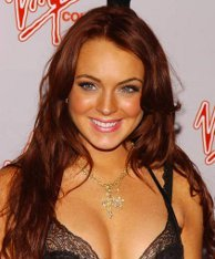 It's only Lindsay's hair that should be orange!