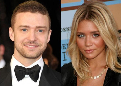 Justin Timberlake and Ashley Olsen