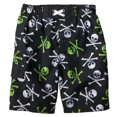 Mossimo Supply Co. Ebony Skull Swim Short