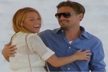 Leonardo DiCaprio with Gossip Girl star Blake Lively!
