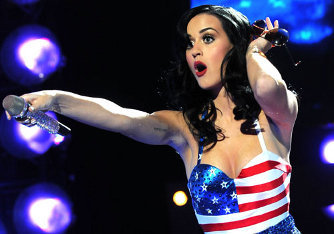Katy Perry gives the troops something to Fight for at