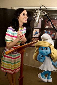 Katy Perry recording Smurfette