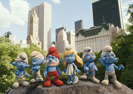 The Smurfs hit New York