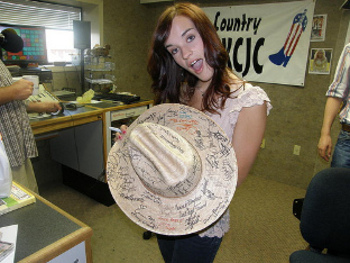 Every country star needs a hat full of fan signatures!
