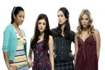 Shay Mitchell with Pretty Little Liars cast