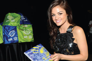Lucy Hale at the 2010 Backpack Party