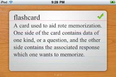 Use Flashcard Touch to make personalized flashcards