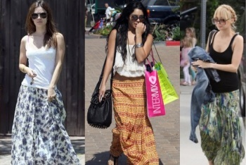 Celebs Wearing Maxi Skirts