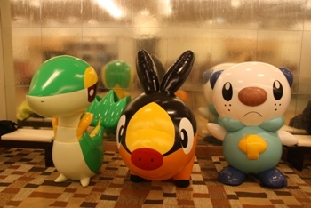 Snivy, Tepig, and Oshawott