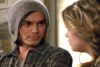 Tyler Blackburn with co-star Ashley Benson