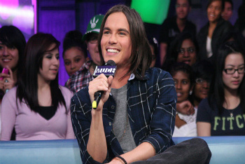Tyler Blackburn at the Much Music studio
