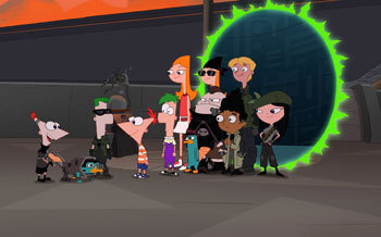 Phineas, Ferb and the Gang