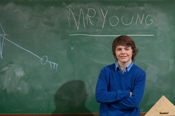 Brendan plays Adam Young, a kid whose off-the-charts I.Q. allows him to teach kids his own age!