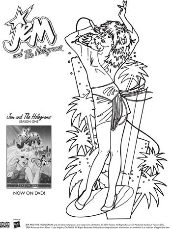 JEM and The Holograms Coloring Sheets