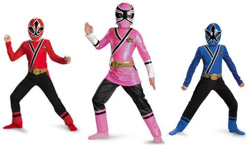 Samurai Red Ranger, Samurai Pink Ranger and Samurai Blue Ranger