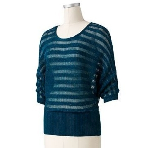 ELLE cotton striped sweater with dolman sleeves