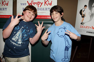 "A younger Robert with Zach Gordon from ""Wimpy Kid"""