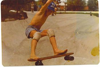 First Skateboarders