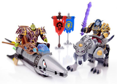 Barrens Chase set, with two figures and two Mounts
