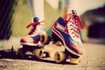 Roller skates spawned the creation of roller rinks