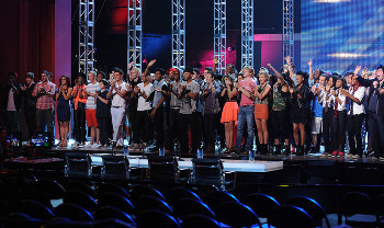 Only half the contestants were left at the end of the day.