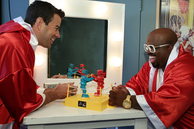 Carson and CeeLo do toy battle