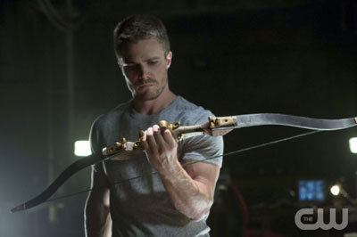 Arrow checks out a new bow