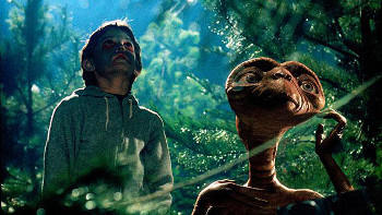 A boy and an alien make unlikely friends in the 1982 blockbuster