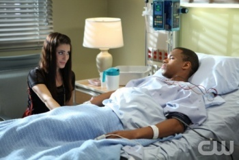 Adrianna with Dixon in the Hospital