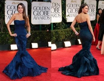 Sofia Vergara was a midnight blue bombeshell at the awards