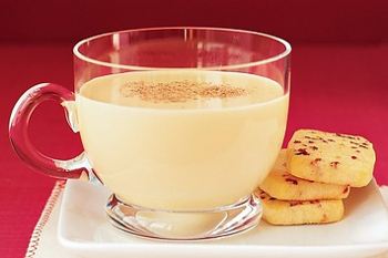 Eggnog is served hot and cold