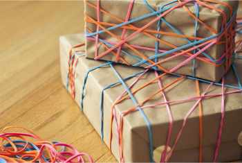 Rubber Bands for Ribbons