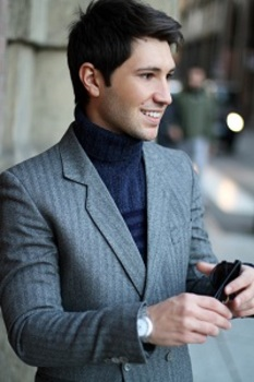 There's nothing like a classic Ralph Lauren blazer over a turtleneck when it comes to a casual evening out.