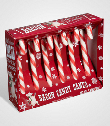 Bacon Candy Canes are funny and traditional!