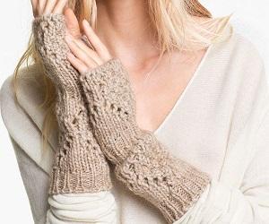 Halogen Diamond Fingerless Gloves