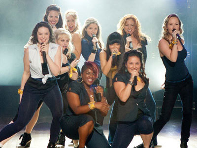 The Bellas on stage