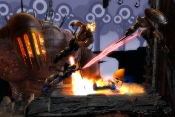 Patapons invade Kratos' stage