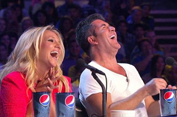 Simon and Britney Spears on The X Factor