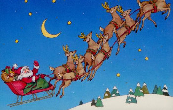 Before sleds, people used sleighs for transporting goods...like presents!