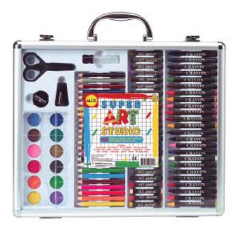 Creative girls will love this art studio kit