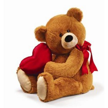 Let your lady snuggle up with an I heart you teddy this Valentine's