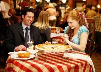 Dress up and go out for dinner (unlike Enchanted, you will have seen pizza before!)