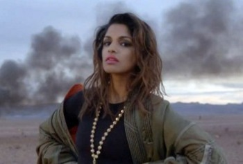 "M.I.A. in her latest video for ""Bad Girls"""