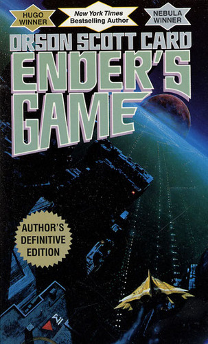 Ender's Game by Orson Scott Card is a perfect sci-fi thriller for your BF